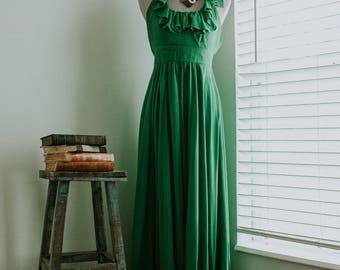 Vintage 1970s Green Climax Dress