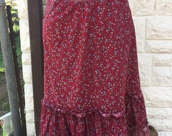 Red Gunne Sax prairie skirt