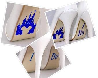 I Do / Disney Castle Vinyl Stickers sole decal wedding shoe stickers custom stickers personalised