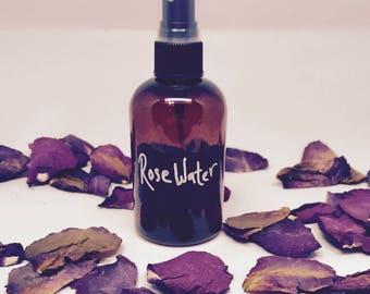 Rosewater | Organic Rose Water | Pure Rose Water | Rose Water Toner | Organic Toner| Linen Spray | Floral Water | Rose Hydrosol | Puffy Eyes
