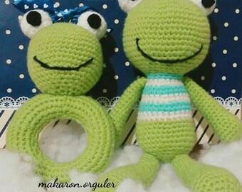 Amigurumi Frog and Rattlesnake Set