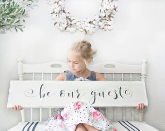 "Be Our Guest sign | Guest room sign | Guest room decor |  Be our guest wood sign | 36""x7"""