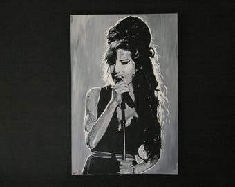 Amy Whinehouse original canvas