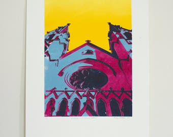 Cathedral of St. John the Baptist - 5 color screen print (2/6)