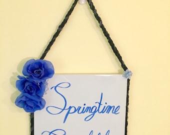 Springtime Scribbles Dry Erase Board