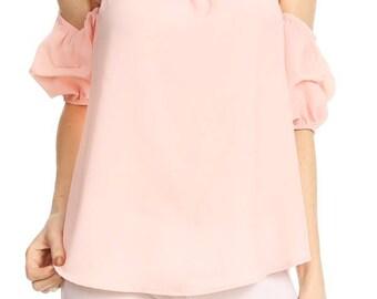 Pale Pink Off the Shoulder