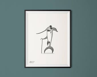 Swordfish - Elegant Animals - Kids Print -  Illustration Print - Nursery Decor - Kids Room