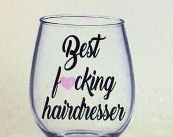 Hairdresser wine glass. Hairdresser gift. Hairdresser. Hairdressers. Stylist. Stylist wine glass. Stylist gift. Hair stylist.