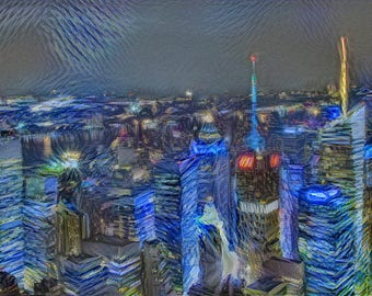 New York - Starry Starry Night interpretation