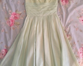 Vintage lime green prom dress