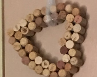 Wine Cork Heart Decoration