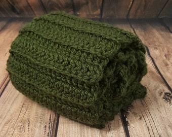 Adult Evergreen Crochet Scarf