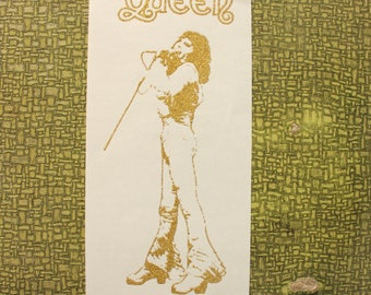 gold glitter Queen Freddie Mercury heat press transfer iron on for t-shirts, sweatshirts