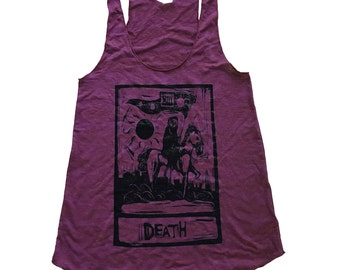 Tarot Death Card Tank Top - Tri-Blend Tank - Available in sizes S, M, L