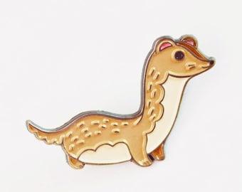 WEASEL enamel pin, ferret enamel pin, weasel pin, hat pins, enamel pins, ferret pin, enamel badge, enamel pin badge, badge pin enamel