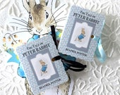 Peter Rabbit Party Favors Miniature Book Box | One Year Birthday New Baby Shower | Party Goodie Favor | Matchbook Box Thank You | Set of 8