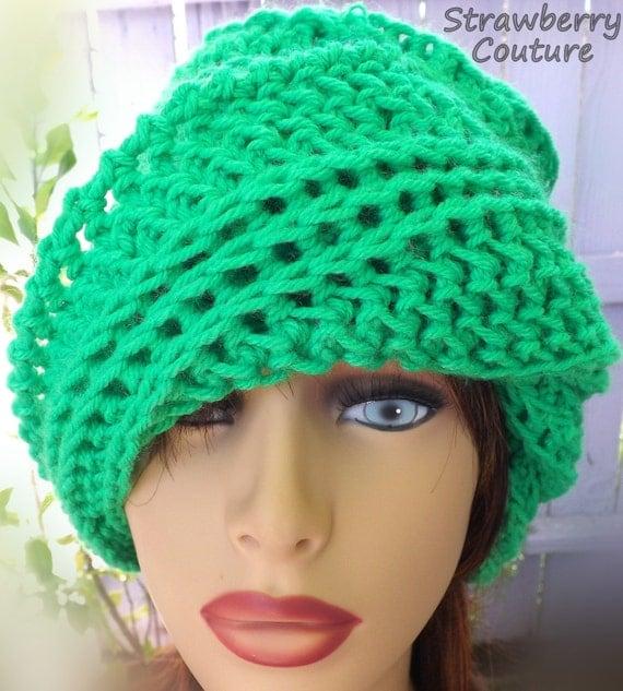 Green Neon Crochet Hat Womens Hat, Womens Crochet Hat, Crochet Beanie Hat, Green Hat, Neon Hat, African Hat, OMBRETTA Beanie Hat for Women