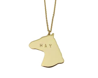 HAY is for Horses Necklace
