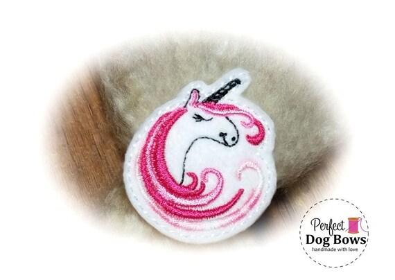 Unicorn DOG BOW, PINK Unicorn, Unicorn Party, Unicorn Birthday, Unicorn Puppy Bow