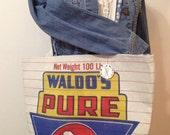 vintage WALDO's cow feed sack - Plain & Simple Tote