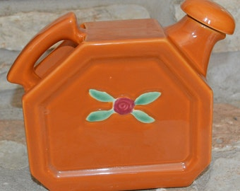 CALL ME ROSEBUD - Vintage 1930s Orange Coors Pottery Cook-n-Serv ware Rose Bud Pattern