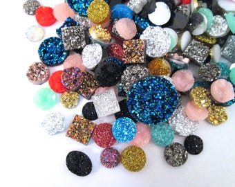 Assorted Resin Druzy Mix, Pick Your Amount, E176