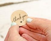 SALE Medium Thank You Sticker Seals - Easy Peel Wedding Favor Bag or Envelope Accessory - 24 Stickers