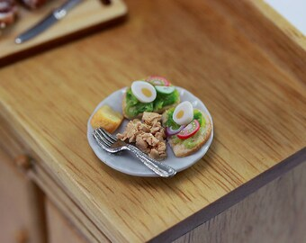 High-Protein Brunch - 1:12 Dollhouse Miniature Food