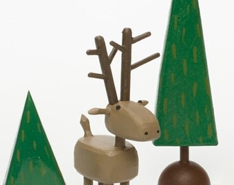deer figure | deer sculpture | christmas putz | tiny forest | build a forest | woodland scene