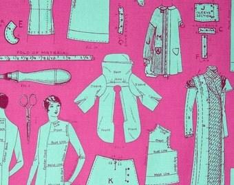 Amy Barickman for RJR FABRIC - Vintage Made Modern - Tailor Made - Fuchsia