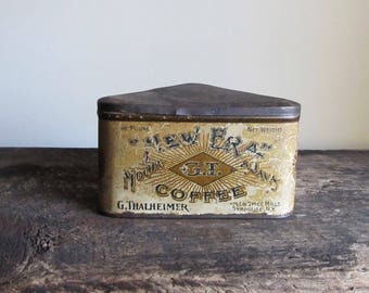 Vintage New Era Mocha & Java Coffee Triangular Tin