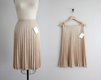 speckled skirt | accordion pleat skirt | vintage 70s skirt