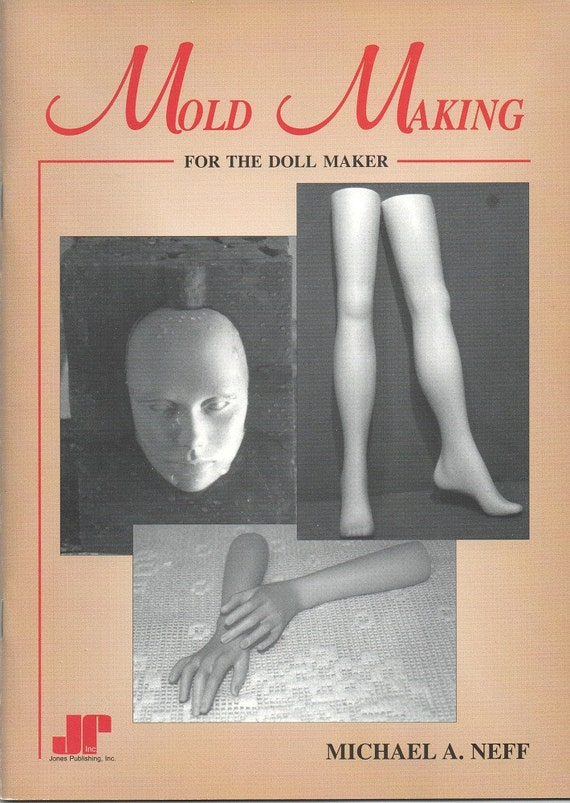 Book Cover Black Mold : Vintage book ceramic mold making for the doll maker rare
