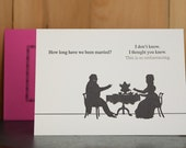 How Long - letterpress anniversary card