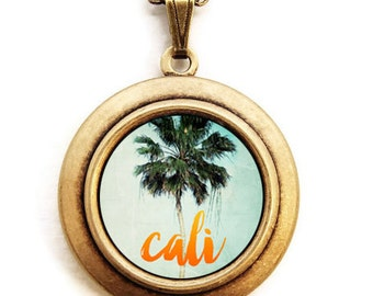 Cali - Southern California Pride Summertime Photo Locket Necklace