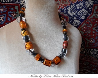 Art to Wear contemporary Italian chic: Murano art beads necklace