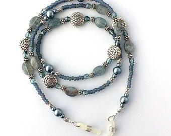 Kyanite Blue Beaded Eyeglass Chain - 62