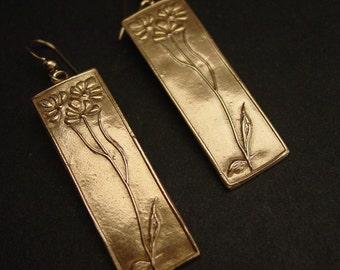 Wild Flowers Art Deco - Earrings