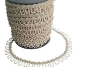 Champagne Adjacent Elastic Bridal Button Looping Trim - Ready to use Wedding Button Holes