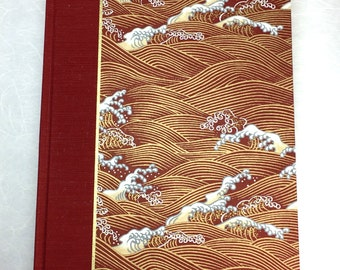 Journal Lined or Blank Journal Red Waves - Great for Notebook, Diary, Journal and Gift