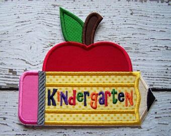 Kindergarten Iron On Or Sew On Applique