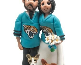 Custom cake topper,  Sports Fans cake topper, Bride and Groom cake topper, Mr and Mrs cake topper, personalized cake topper