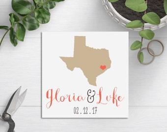 Wedding Welcome Bag Tag, Wedding Favor Tag, State Themed Wedding, Rustic Wedding Tag, Hotel Bag Tag, Wedding Gift Tag, Texas Wedding, TX