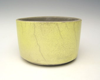 Modern Succulent planter Raku yellow Cactus planter Bonsai planter Ceramic pottery planter Plant herb pot 5 3/4 x  3 1/2  p11