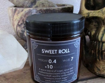 Sweet Roll 4 oz soy wax candle Elder Scrolls- Skyrim inspired