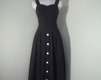 Vintage 50s Style Smocked Rockabilly 90s Maxi Sun Dress