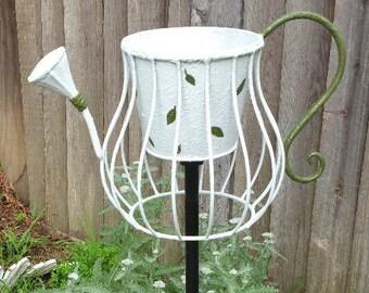 Unusual iron flower pot