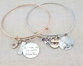 Mother's Day Gift Mom Women -  Personalized Bracelet - Handwriting Jewelry - Personalized Bangle Bracelet - Adjustable Bangle - Kids Drawing
