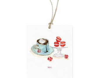Macarons Holiday Gift Tags