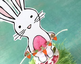 Bunny and Carrots Spring Decoration | Easter Decoration